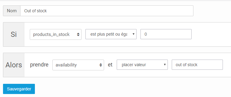 Channable règles Google Shopping flux
